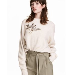 H&M Embroidered Sweater